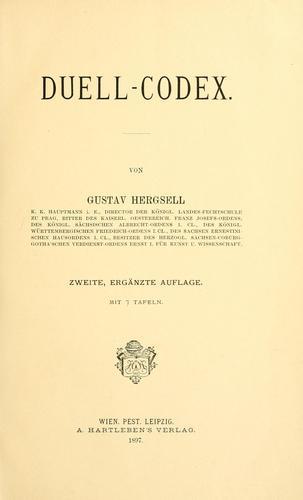 Книга Дуэльный кодекс (Duell-Codex) на немецком