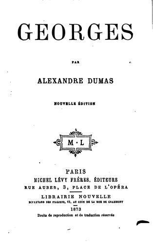 Книга Жорж (Georges) на французском