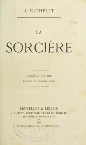 Книга Ведьма (La sorcière) на французском