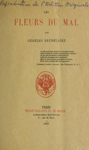 Книга Цветы зла  (Les Fleurs du Mal) на французском
