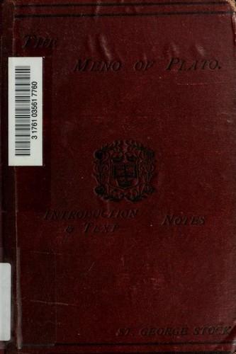 Книга Менон (Meno) на английском