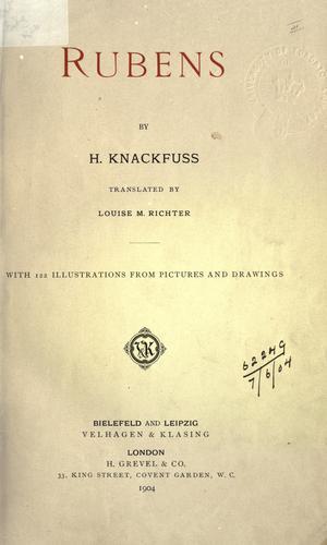 Книга Рубенс (Rubens) на немецком