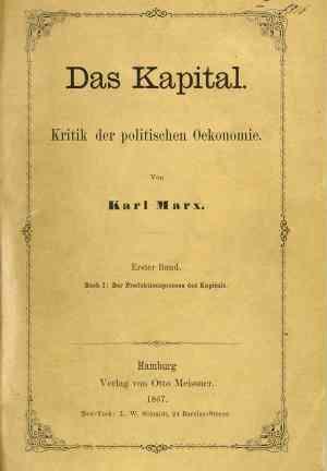 Book Capital: A Critique of Political Economy (Das Kapital) in German