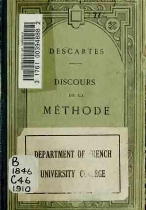 Книга Рассуждение о методе (Discours de la méthode) на французском