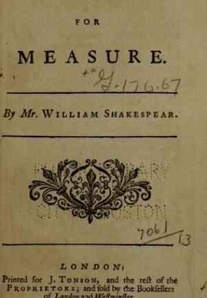 Книга Мера за меру (Measure for Measure) на английском