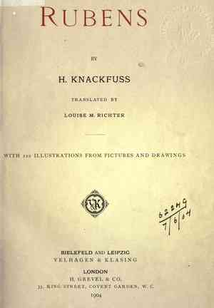 Book Rubens (Rubens) in German