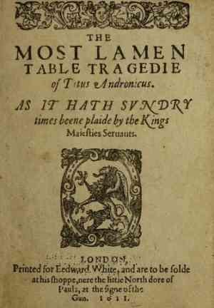 Книга Тит Андроник (Titus Andronicus) на французском