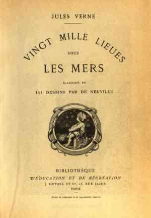 Книга Двадцать тысяч лье под водой (Vingt mille lieues sous les mers) на французском