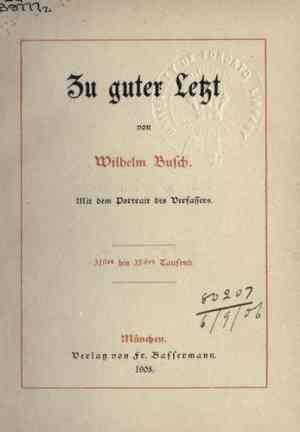 Book Last but not least (Zu guter Letzt) in German